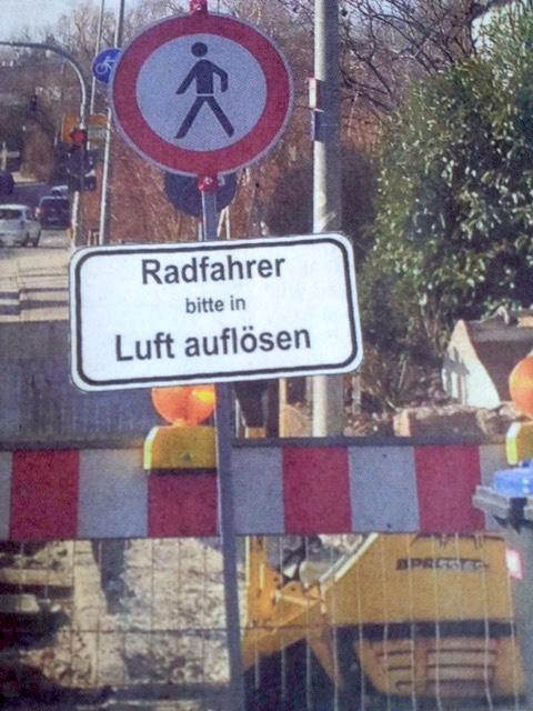 Radler-in-Luft-aufloesen