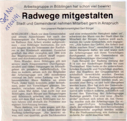 01.07.15, AG-Radwege, so war es 1991
