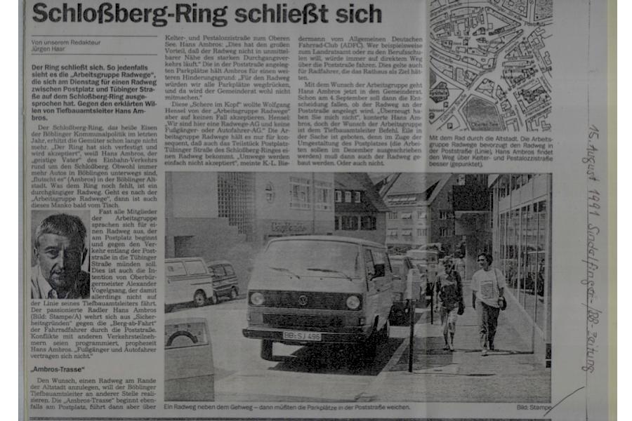 Schlossbergdebatte im Jahr 1991