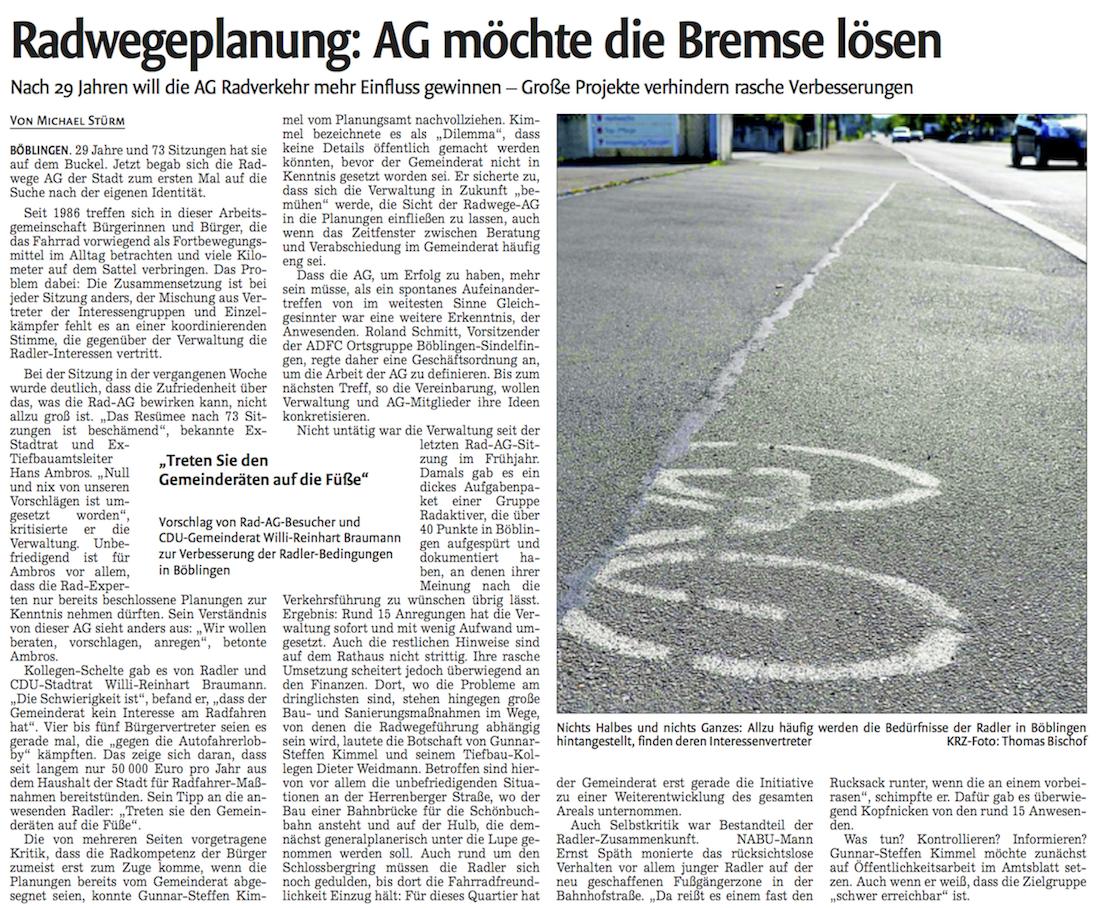 Zeitungsbericht AG Radverkehr 3CDEAD16-E50E-448C-8675-D72EF5D7A034